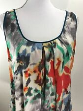 FEI Anthropologie Tank Cami Sleeveless Blouse Size Large Abstract Multi Color