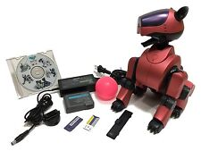 SONY AIBO ROBOT ERS-210 MATTE RED METALLIC CUSTOM COLOR + 2 SOFTWARE ソニー アイボ