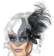 Masquerade Ball Fancy Dress Eye Mask Prom Eyemask Dark Angel New by Smiffys