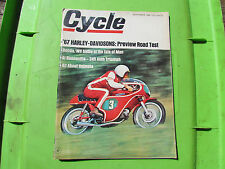 Cycle Magazine November 1966  Triumph Harley Davidson   Isle of Man