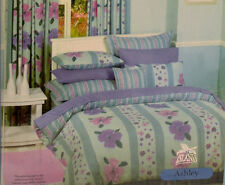 Ashley POLY COTTON PERCALE 250 TC KING QUILT COVER DUVET SET +2 PILLOW CASES