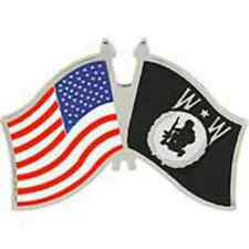 """PIN WOUNDED WARRIOR WITH USA FLAG (1-1/4"""")"""