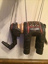 Antique India Wood Hand Carved MARIONETTE ELEPHANT PUPPET India