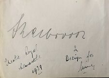 ANTON WALBROOK FILM STAR 'THE RED SHOES' AUTOGRAPH 1939 NEWCASTLE THEATRE ROYAL