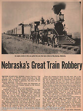 Nebraska Richest Train Robbery of the Union Pacific # 4