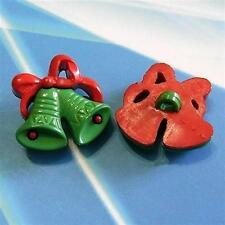 15 X'mas Chrismas Decor Jingle Bell Craft Sewing Buttons DIY K762