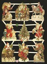 German Vintage Style Embossed Scrap Die Cut - Cute Christmas Santa   EF7403