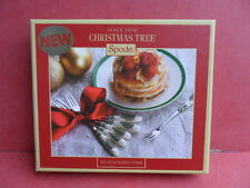 SPODE - Christmas Tree, 6 x Pastry Forks (New/Boxed)