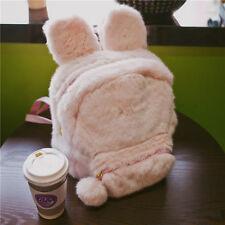 Lolita Harajuku Girl's Rabbit Ear Plush Cute Backpack Shoulder Bag Bookbag