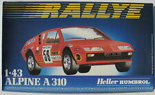 Heller 80146 - ALPINE A 310 - RALLYE - 1:43 - Auto Modellbausatz - Model Kit