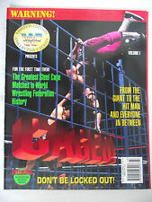 WWE / WWF CAGED  LIMITED EDITION COLLECTORS SERIES MAGAZINE / VOLUME 1 / L1