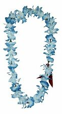 Hawaiian Lei Party Luau Floral Leilani Carnation Silk Dance Flower Blue White