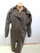 AUSTRALIAN OUTBACK BROWN DENIM DUSTER DROVER WESTERN RIDING COAT MEN'S M