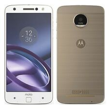 MOTOROLA MOTO Z 32GB XT1650-03 White/Gold  FACTORY UNLOCKED 4G/LTE SIM FREE NEW