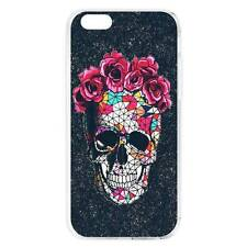 Skull Skeleton Dark Black Pattern Soft Slim Case Cover Skin for iPhone&Samsung