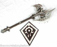WOW Shadowmourne Frostmourne Lich King Arthas Metal Axe 1:1 Replica Life Size