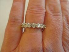 Hallmarked 18ct Gold 7 Stone Diamond 1.00ct Half Eternity Ring Cost £1400