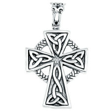 Celtic Cross 925 Sterling Silver Pendant Plain Deisgn Jewelry AAASPJ2098