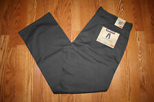 NWT Mens KIRKLAND Brushed Cotton 5 Pocket Pants Gunmetal Gray Sz W42 x L34