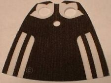 LEGO - Minifig, Cape Cloth, Standard with Black Back and Stripes Pattern - White