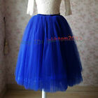 7 Layers Tulle Skirt Summer Style Womens Maxi Pleated Midi Skirts Plus Size
