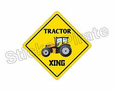 *Aluminum* Tractor Crossing Funny Metal Novelty Sign