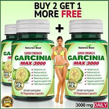 95% HCA Garcinia Cambogia Pure 3000mg Daily Weight Loss Diet Slimming Capsules