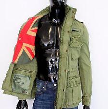 SUPERDRY Herren Gr. XL Flag Jacke Parka Militärsitl Army 189 € Khaki Grün N1289