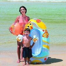 WHEEL CART BEACH SET W/CART, B/BALL, ARM BANDS & BOAT IN ZIPPERED BAG