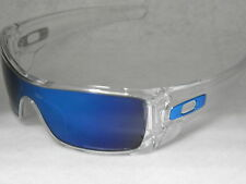 *NEW* OAKLEY BATWOLF OO9101-07 IN POLISHED CLEAR WITH ICE IRIDIUM LENS