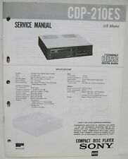 SONY CDP-210ES CD Compact Disc Player Original SERVICE MANUAL