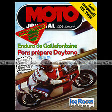 MOTO JOURNAL N°206 SUZUKI GT 125 ENDURO GAILLEFONTAINE JEAN-LOUIS FIGUREAU 1975