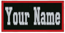 1 Custom Embroidered Name Patch Biker Motorcycle Tag Personalized 4""