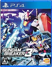 Used PS4 Gundam breaker 3  Free Shipping with tracking number