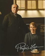 Hand Signed 8x10 photo PHYLLIS LOGAN as MRS HUGHES in DOWNTON ABBEY + my COA
