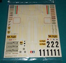 Ferrari 312T Tamiya 1/12 Big Scale Series F1 Decal Sheet.