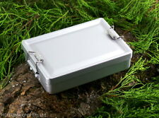 BCB LIGHTWEIGHT ALUMINIUM MINI MESS TIN BOX LOCKING CLASP CAMPING SURVIVAL KIT