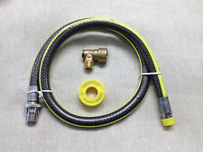 "UNIVERSAL 1/2 "" BAYONET & COOKER HOSE & GAS PTFE  1.25M / 4FT  SUITABLE FOR LPG"
