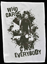 SEX PISTOLS TEA TOWEL SID VICIOUS WHO CARES MOTORBIKE PUNK WALL HANGING POSTER