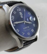 Invicta Men's I-Force Model 14786 Watch, Blue Dial on Black Leather Strap