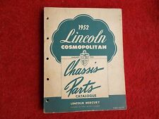 1952 LINCOLN Cosmopolitan Chassis Parts MANUAL Original Very Good Condition