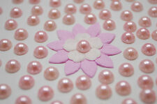"100! Lovely Peach Half Pearl Flatback Embellishments  - 8mm/0.3"" - Craft Pearls"
