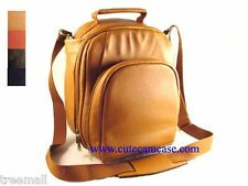 Special Design SLR Camera Genuine Leather BackPack Brown Color