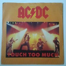 "AC/DC Touch Too Much Single 7"" UK con dos temas live 1979"