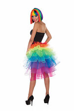RAINBOW BUSTLE #TUTU SKIRT BURLESQUE 1980s FANCY DRESS OUTFIT ACCESSORY