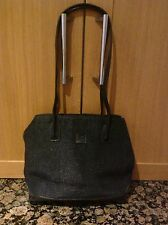 GORGEOUS STONE MOUNTAIN BLACK WEAVE EFFECT SHOULDER BAG USED SIGNS OF WEAR