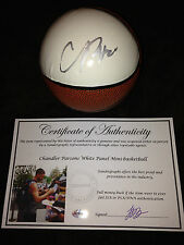 CHANDLER PARSONS MAVS SIGNED AUTOGRAPHED WHITE PANEL MINI BASKETBALL-PROOF COA