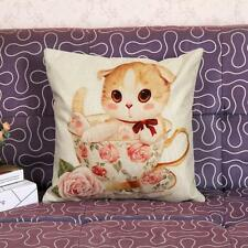 New Cotton Linen Pillow Case Sofa Waist Throw Cushion Cover Home Decoration