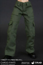 Triad Toys 1/6 Scale FEMALE OD GREEN CARGO PANTS for slim waist bodies