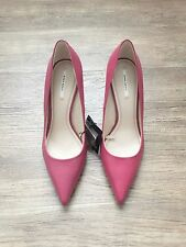 ZARA Women's Leather High Heel Shoes(Fuchsia, US  8/EUR  39)